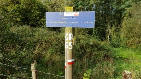 One of the last GR65 signs. The GR65 follows the majority of the Camino from Le Puy into Spain