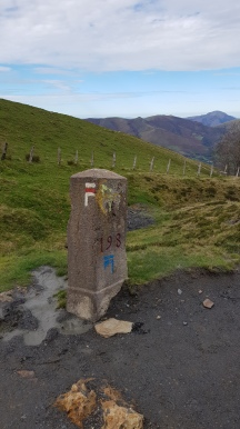 GR65 signs you find along the Camino in France (from Le Puy)